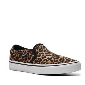 Brand New Vans Asher Cheetah Slip On Size 8